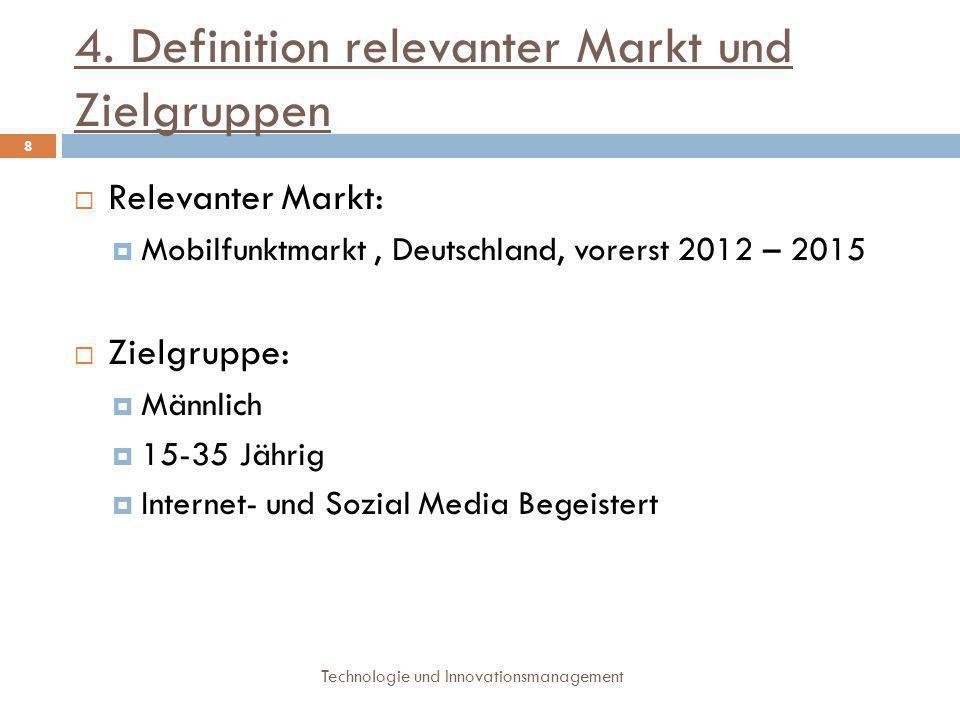 5.Wettbewerber Technologie und Innovationsmanagement 9  3 potentielle Konkurrenzgruppen:  mobile Suchmaschinen ( z.B.