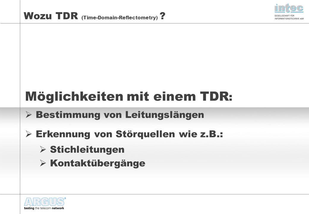 Wozu TDR (Time-Domain-Reflectometry) .