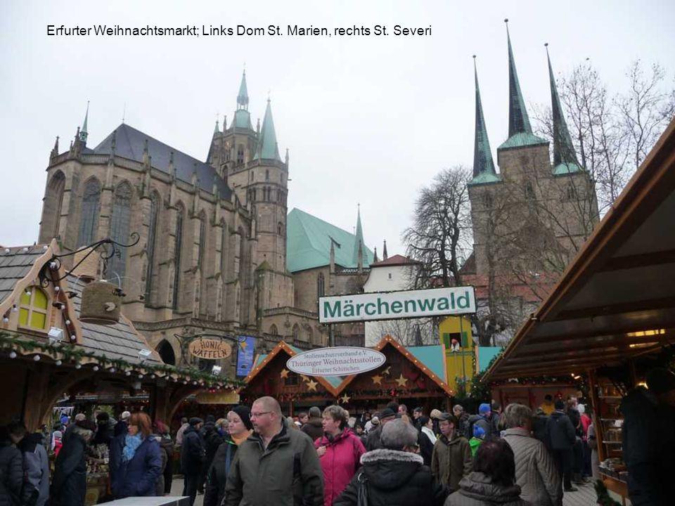 Weihnachtsmarkt Erfurt auf dem Domplatz