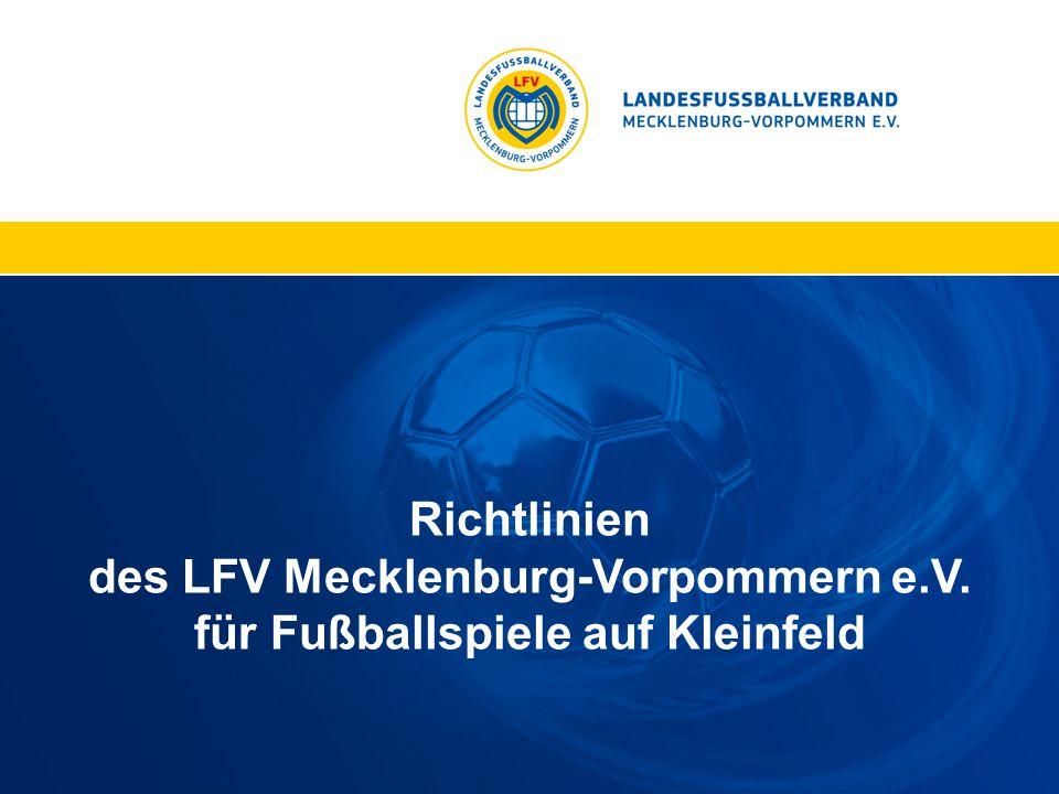 Richtlinien des LFV Mecklenburg-Vorpommern e.V. für Fußballspiele auf Kleinfeld