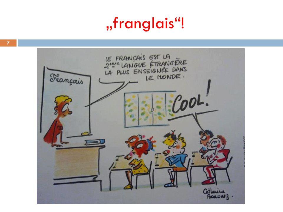 """ Meinungen aus einer Umfrage: """"Das ist mal wieder typisch französisch, ein Gesetz zur Sicherung der eigenen Sprache."""