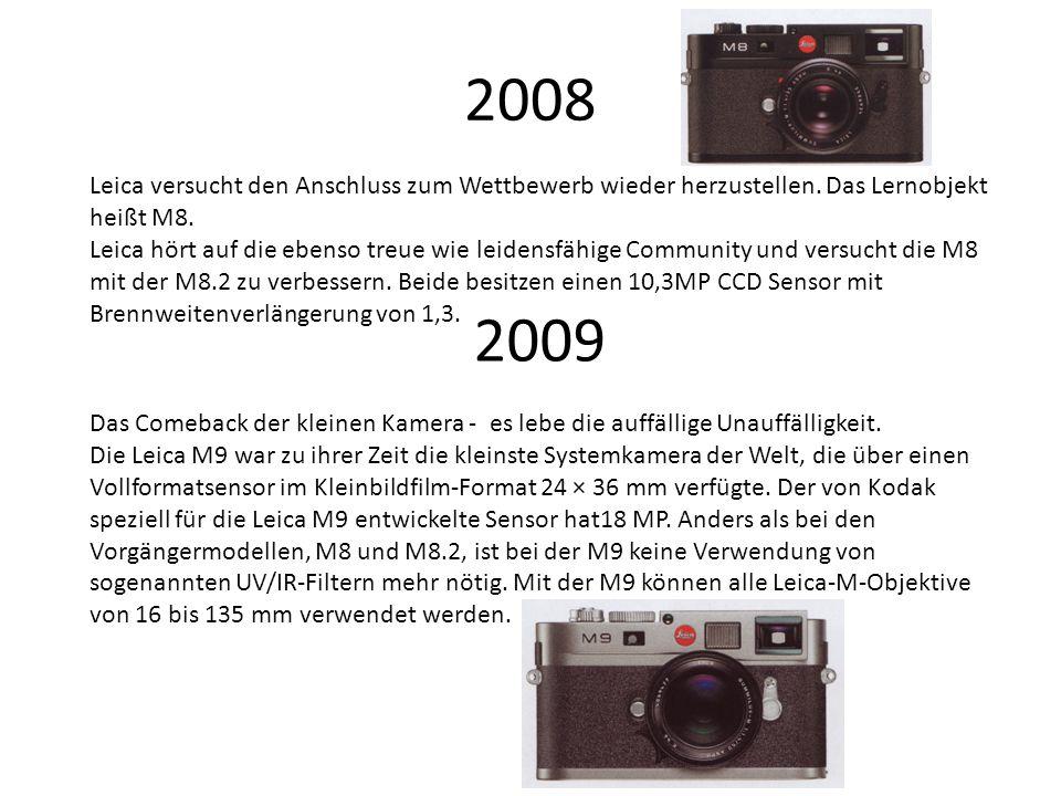 2008 Leica versucht den Anschluss zum Wettbewerb wieder herzustellen.