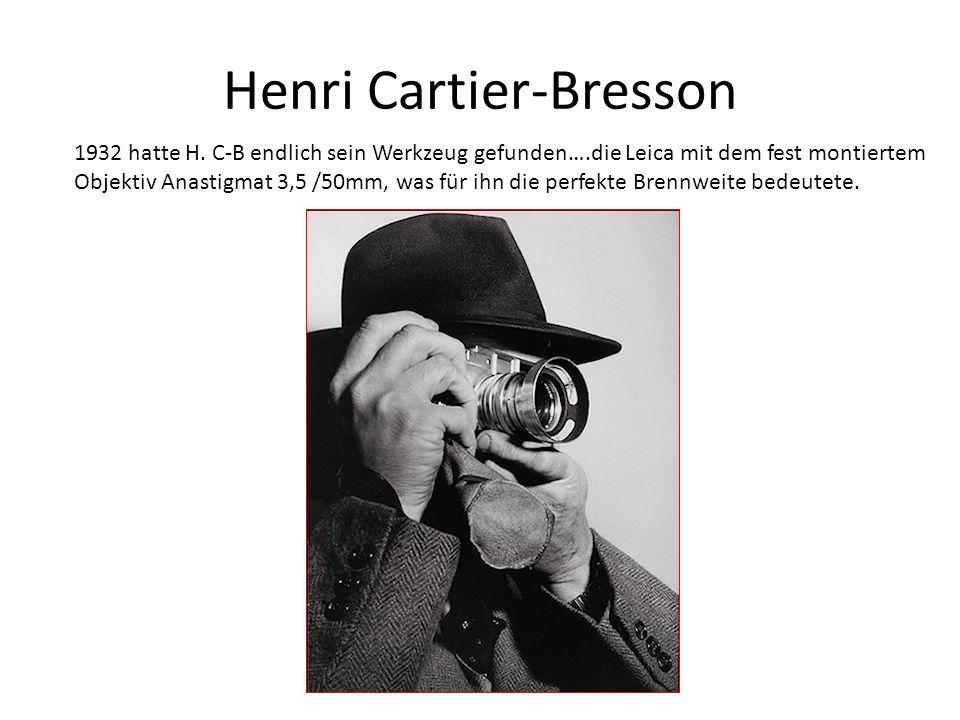 Henri Cartier-Bresson 1932 hatte H.