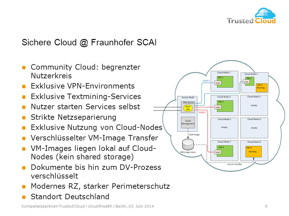9Kompetenzzentrum Trusted Cloud | cloud4health | Berlin, 03.