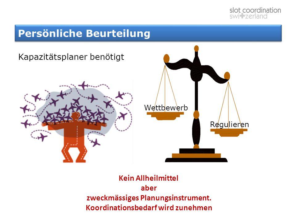 Persönliche Beurteilung Kein Allheilmittel aber zweckmässiges Planungsinstrument. Koordinationsbedarf wird zunehmen Wettbewerb Regulieren Kapazitätspl