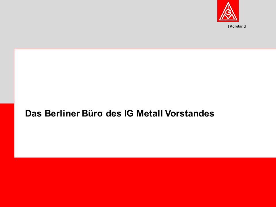 Vorstand Das Berliner Büro des IG Metall Vorstandes