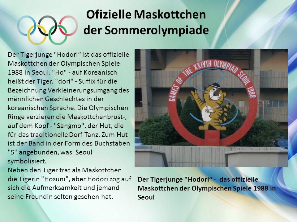 Ofizielle Maskottchen der Sommerolympiade Der Tigerjunge