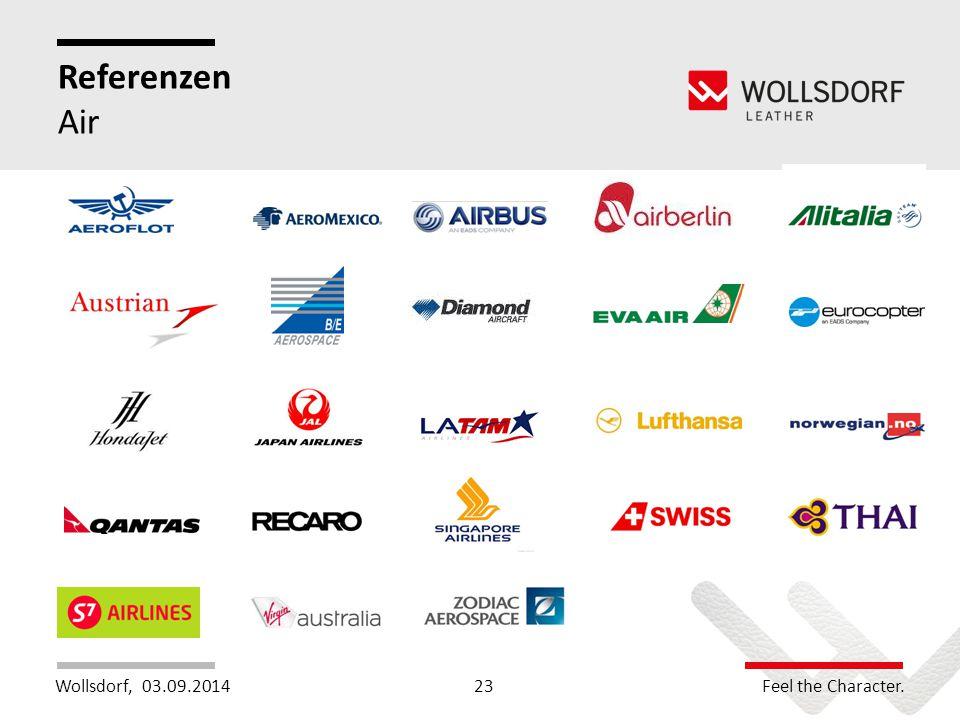 Wollsdorf,Feel the Character. Referenzen Air 03.09.201423