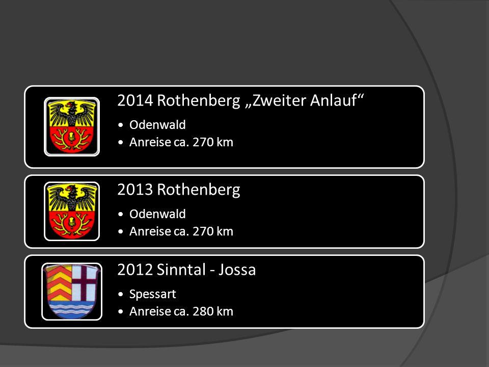 """2014 Rothenberg """"Zweiter Anlauf Odenwald Anreise ca."""