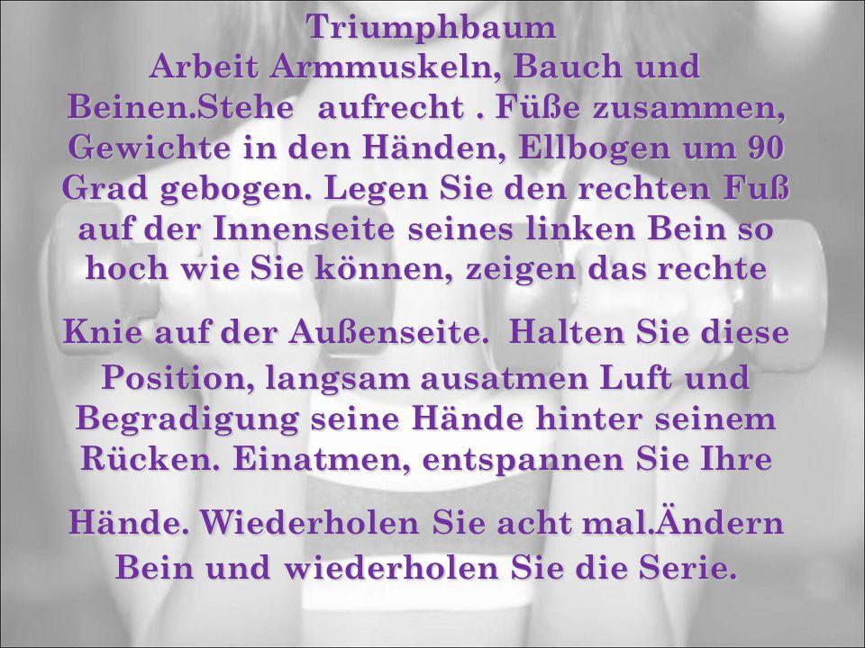 Triumphbaum Triumphbaum Arbeit Armmuskeln, Bauch und Beinen.Stehe aufrecht.
