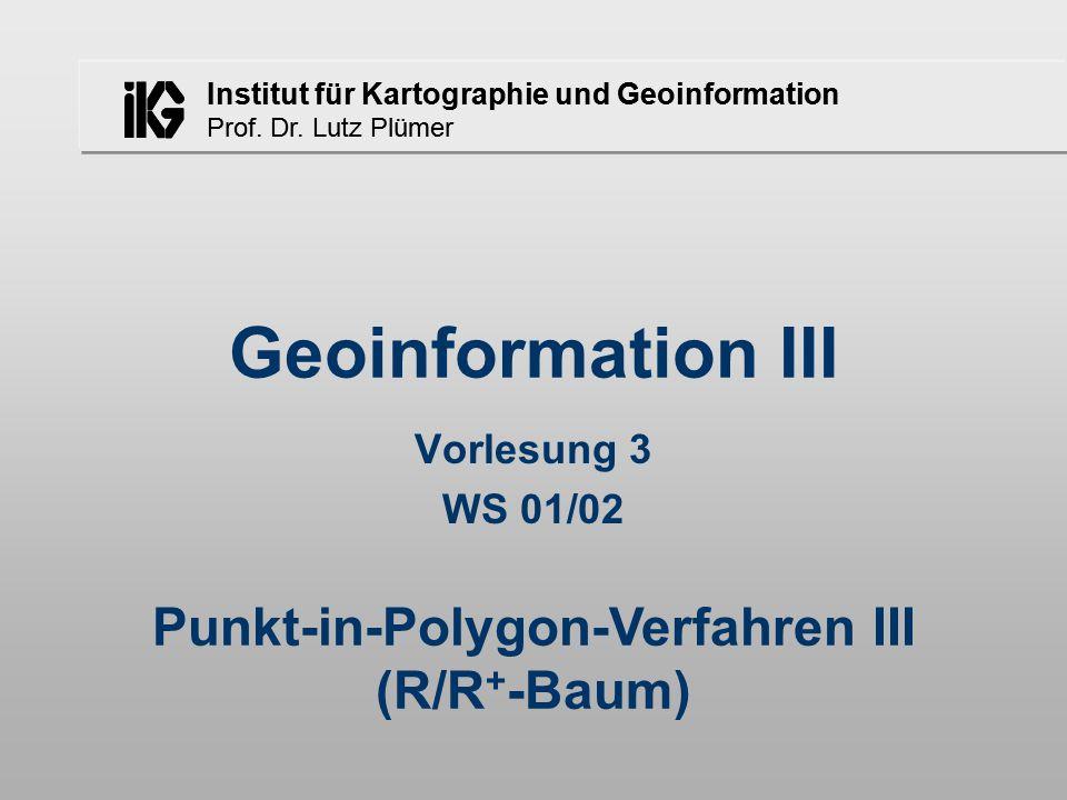 Institut für Kartographie und Geoinformation Prof.