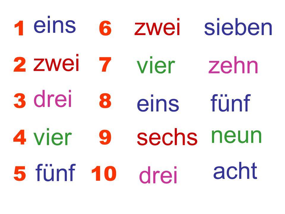 zehn sieben neun acht sechs 16 27 38 49 5 10 eins zwei drei vier fünf sechs sieben acht