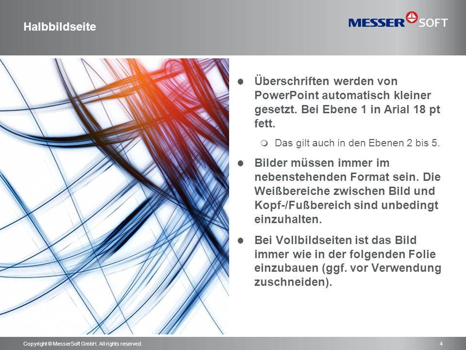 Copyright © MesserSoft GmbH. All rights reserved.5 Vollbildseite