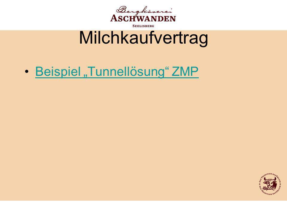 """Milchkaufvertrag Beispiel """"Tunnellösung"""" ZMP"""