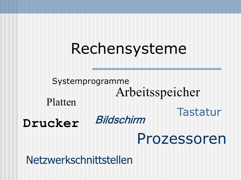 Betriebssystem Textverarbeitung E-Mail-ClietWeb-Browser KommandointerpreterCompilerEditor Betriebssystem Hardware Anwendungs- programme Sytemprogramme