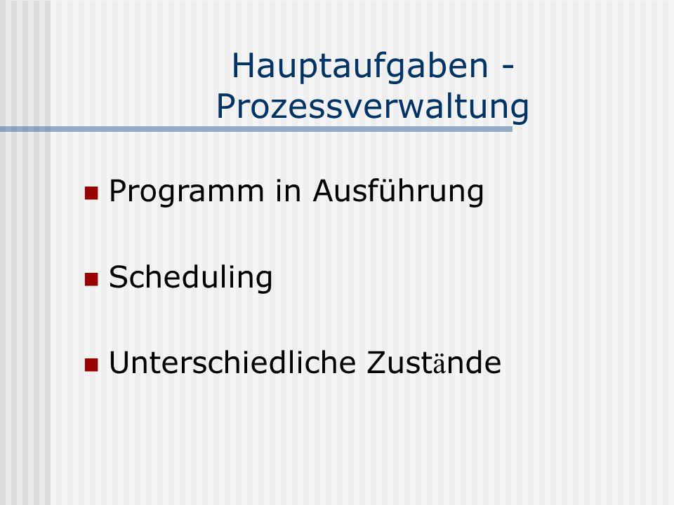Literatur Glatz, Eduard: Betriebsysteme.Grundlagen, Konzepte, Systemprogrammierung.