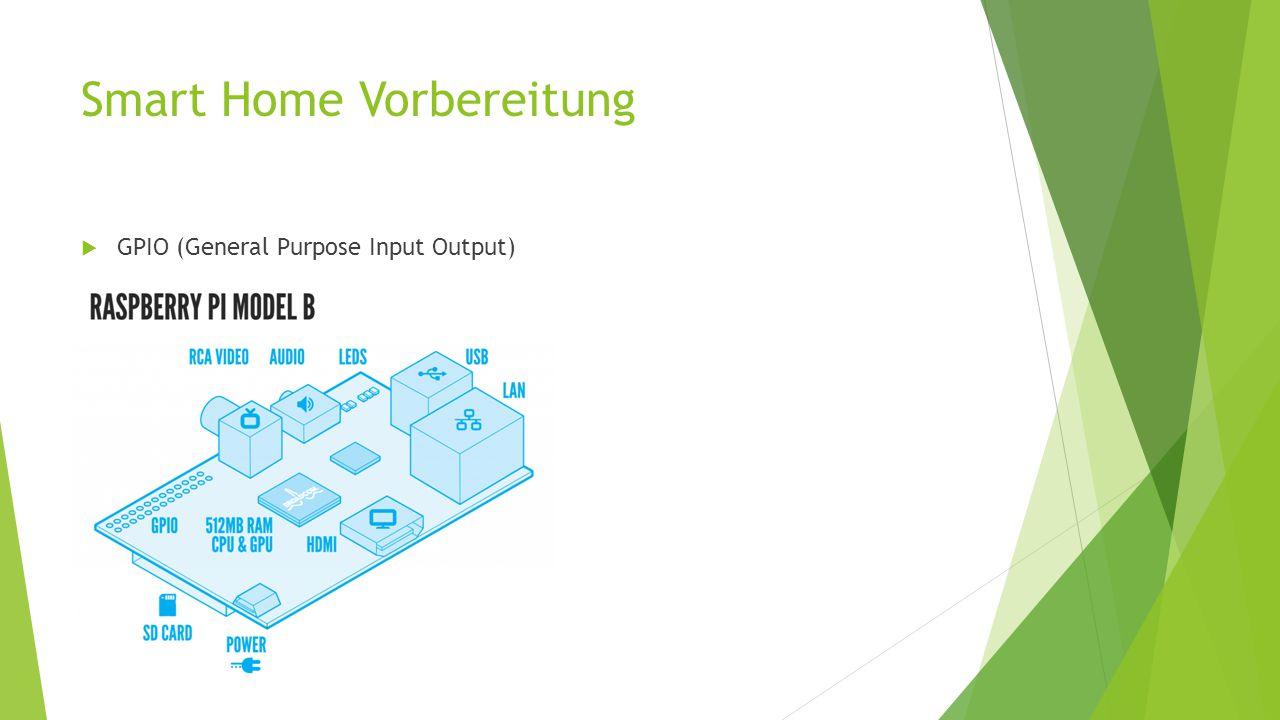 Smart Home Vorbereitung  GPIO (General Purpose Input Output)