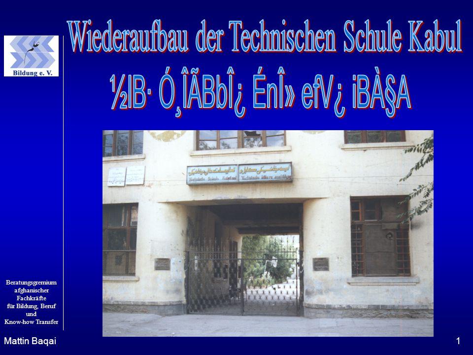 Beratungsgremium afghanischer Fachkräfte für Bildung, Beruf und Know-how Transfer Mattin Baqai1