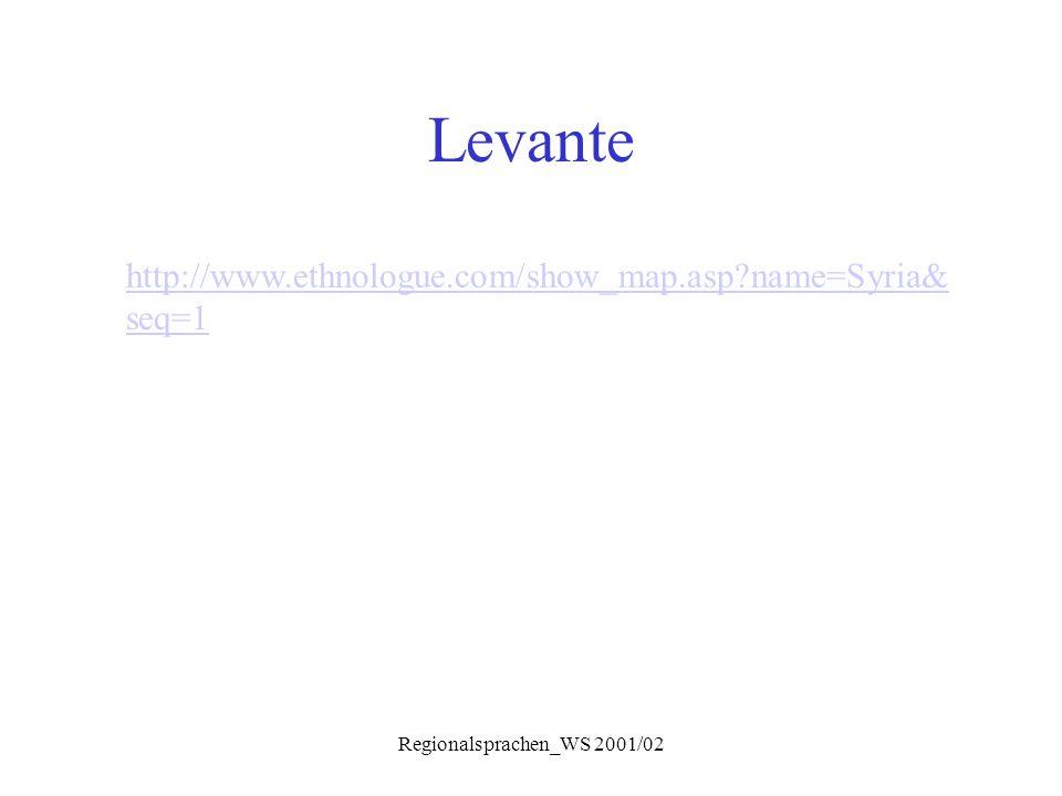 Regionalsprachen_WS 2001/02 Levante http://www.ethnologue.com/show_map.asp?name=Syria& seq=1