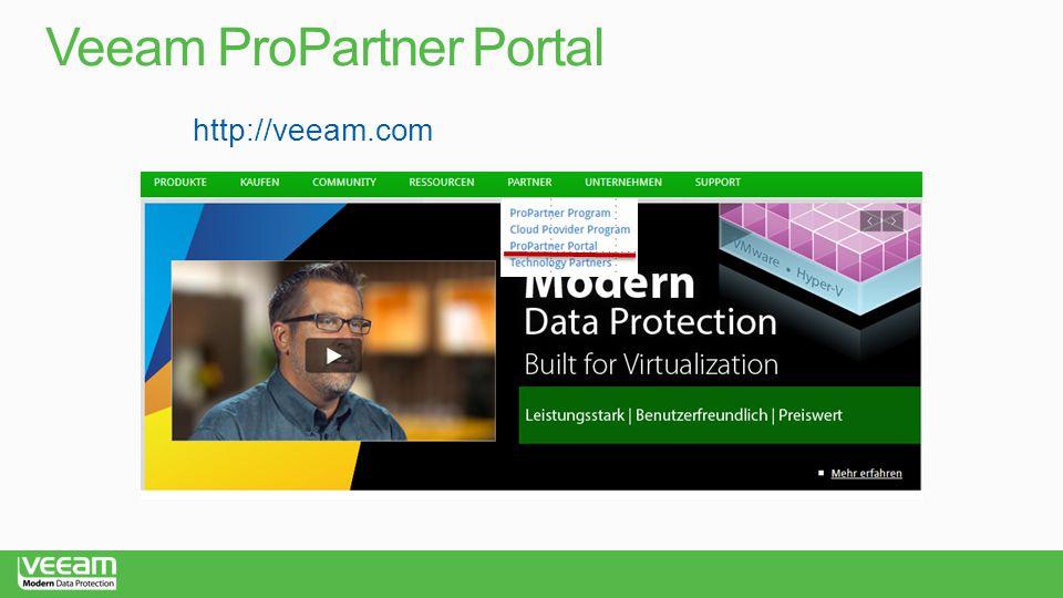 Veeam ProPartner Portal http://veeam.com