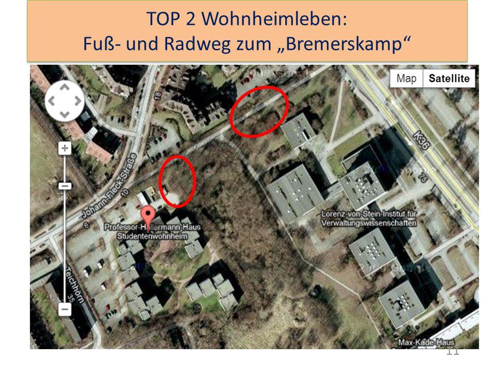 """11 TOP 2 Wohnheimleben: Fuß- und Radweg zum """"Bremerskamp"""