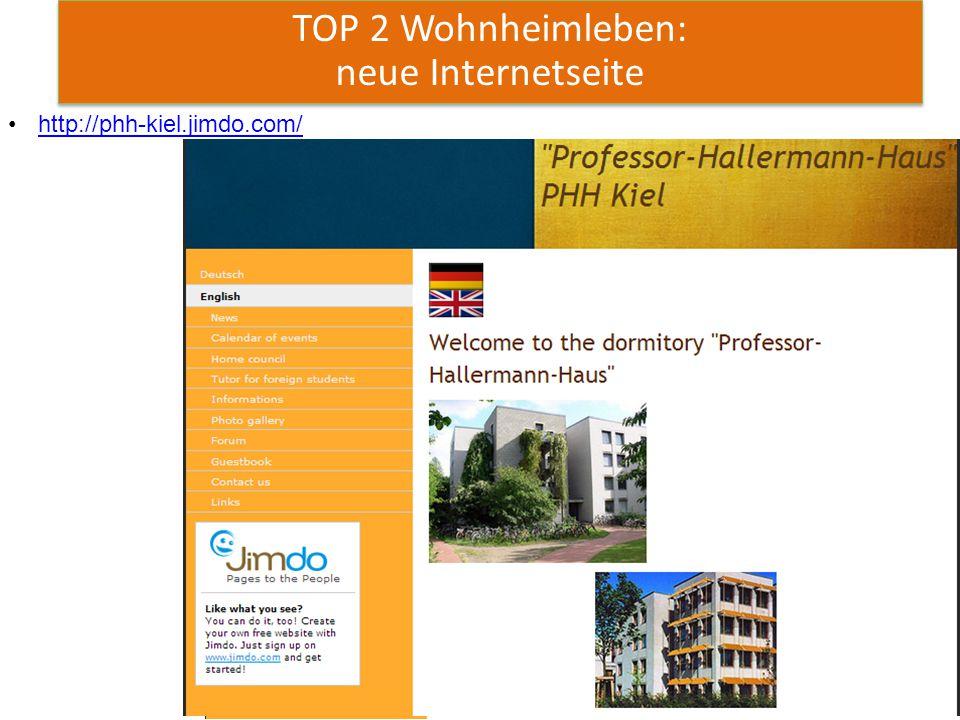 7 TOP 2 Wohnheimleben: neue Internetseite http://phh-kiel.jimdo.com/