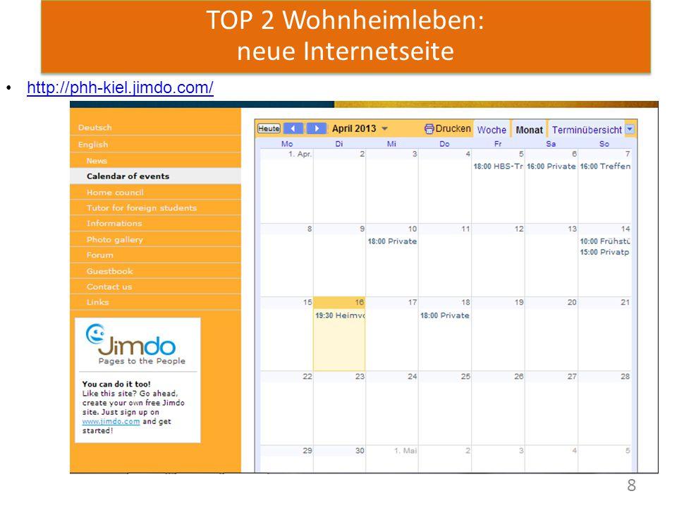 8 TOP 2 Wohnheimleben: neue Internetseite http://phh-kiel.jimdo.com/