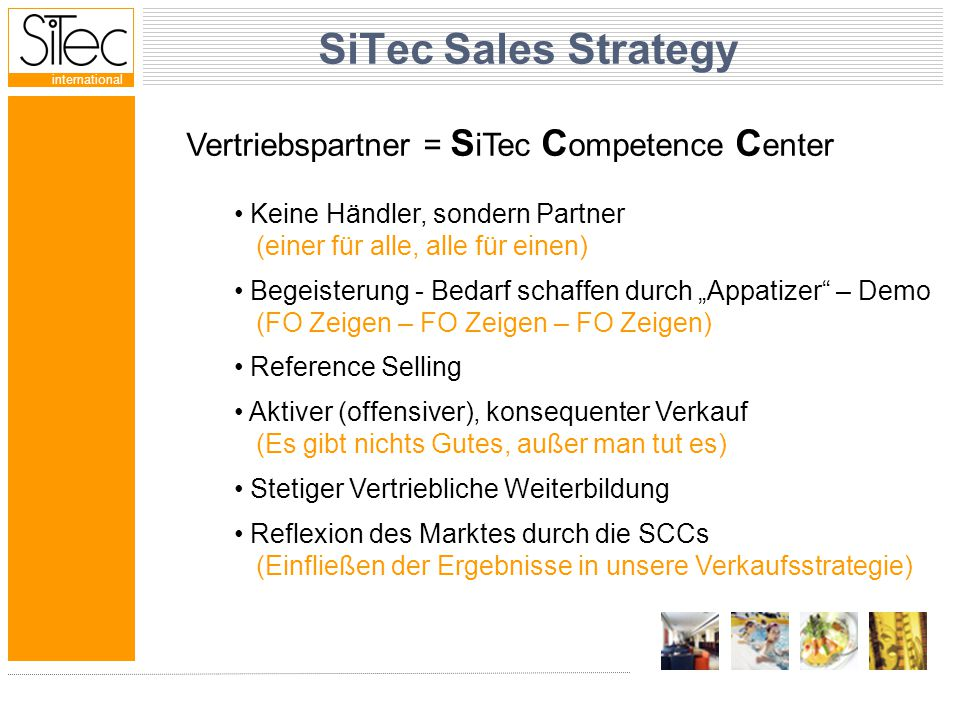 international SiTec's Strength Begeisterung 1st class Product professionelle Partner überzeugte, zufriedene Kunden schnell, flexibel, kundennahe, aktiv we want to win we know how to sell we go out and SELL, SELL, SELL WE MEAN IT