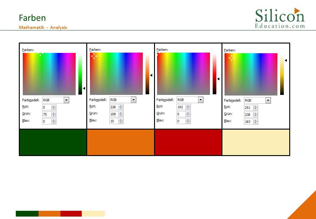 Mathematik - Analysis Farben