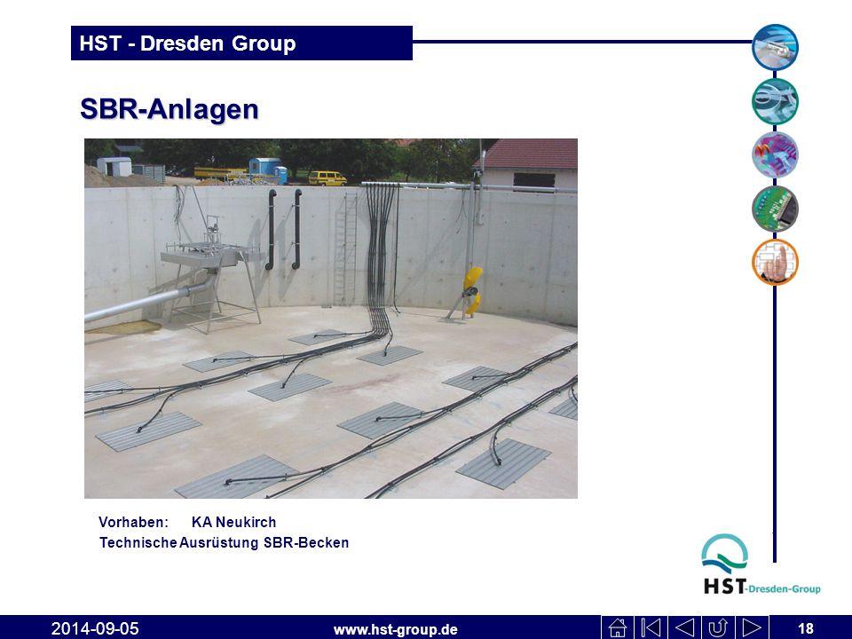 www.hst-group.de HST - Dresden Group SBR-Anlagen 18 2014-09-05 Vorhaben: KA Neukirch Technische Ausrüstung SBR-Becken