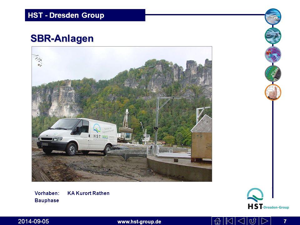 www.hst-group.de HST - Dresden Group SBR-Anlagen 7 2014-09-05 Vorhaben: KA Kurort Rathen Bauphase