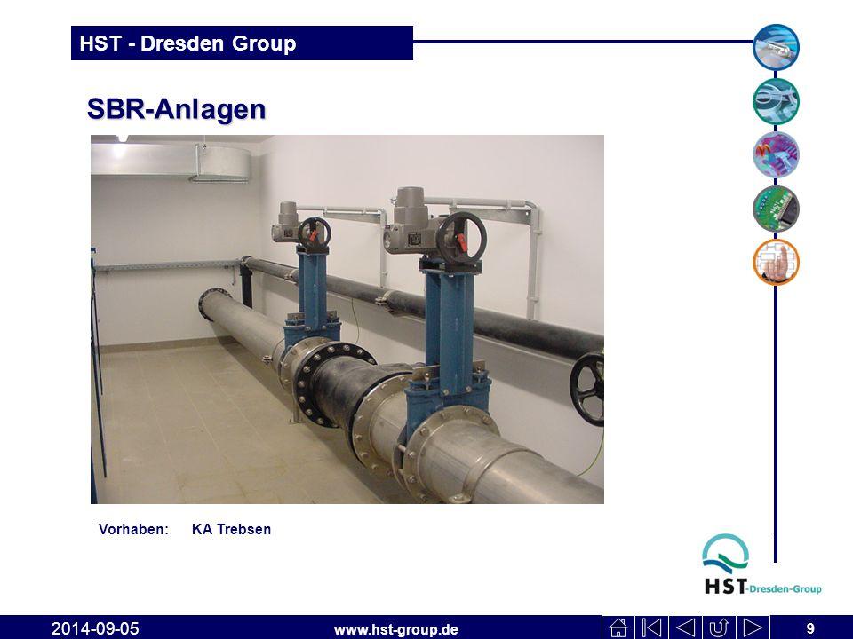 www.hst-group.de HST - Dresden Group SBR-Anlagen 9 2014-09-05 Vorhaben: KA Trebsen