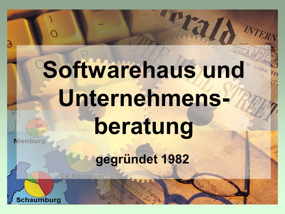 Softwarehaus und Unternehmens- beratung gegründet 1982