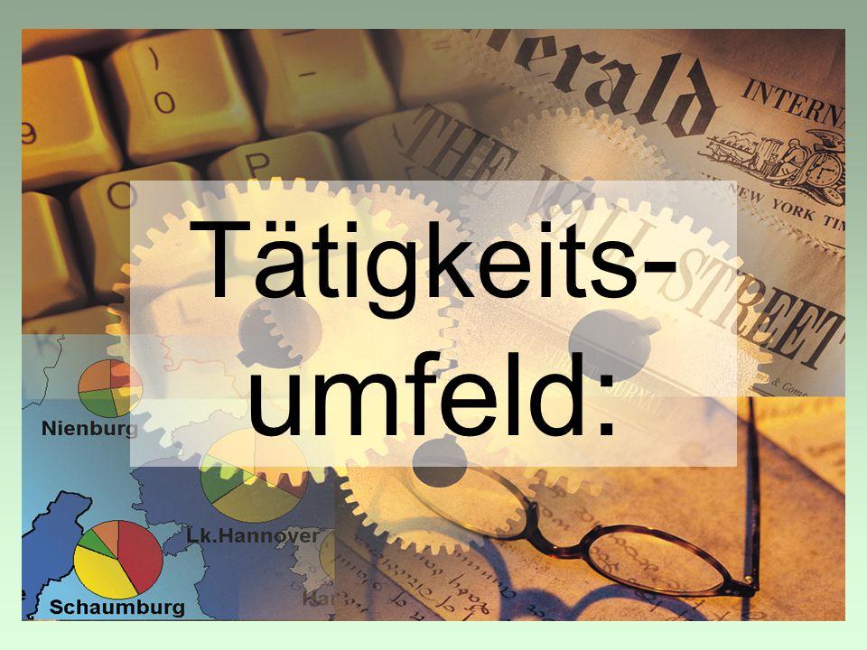 Tätigkeits - umfeld: