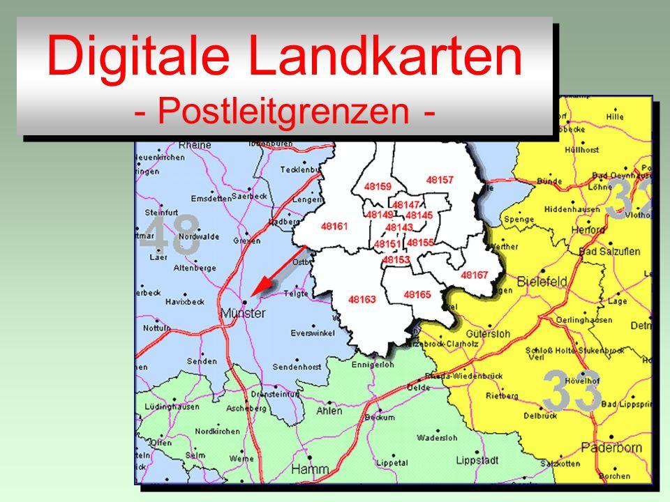 Digitale Landkarten - Postleitgrenzen - Digitale Landkarten - Postleitgrenzen -