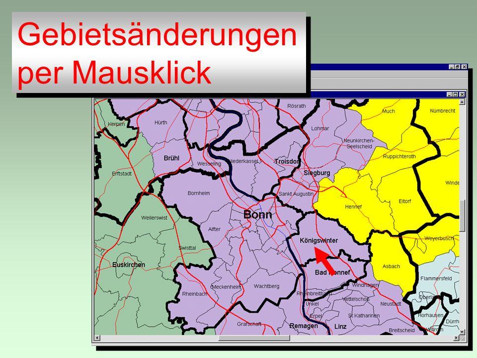 Gebietsänderungen per Mausklick