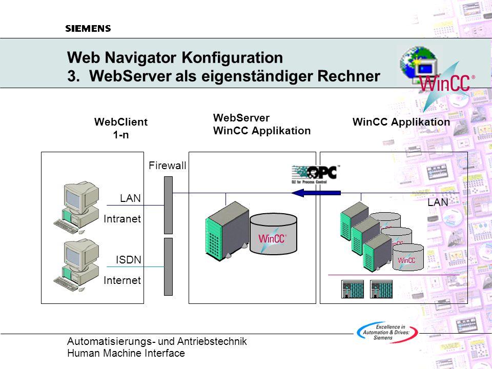 Automatisierungs - und Antriebstechnik Human Machine Interface Web Navigator Konfiguration 3.