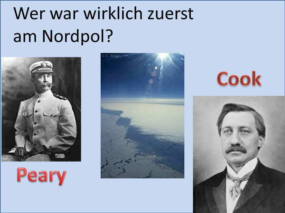 Wer war wirklich zuerst am Nordpol?