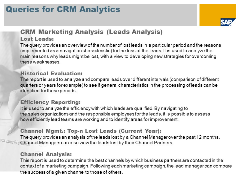 Queries for CRM Analytics CRM Customer Interaction Center (CIC) Analysis Interactive Scripting Evaluation: This query displays the number of times (hits) a response was chosen in an interactive script.