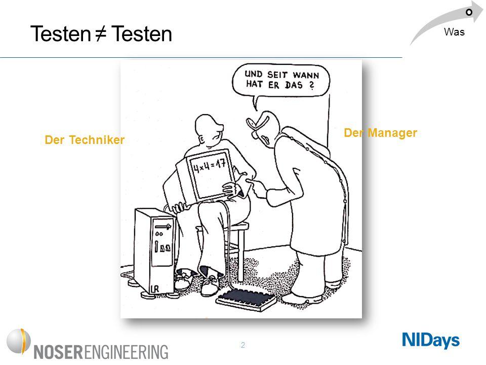 2 Testen ≠ Testen Der Techniker Der Manager Was