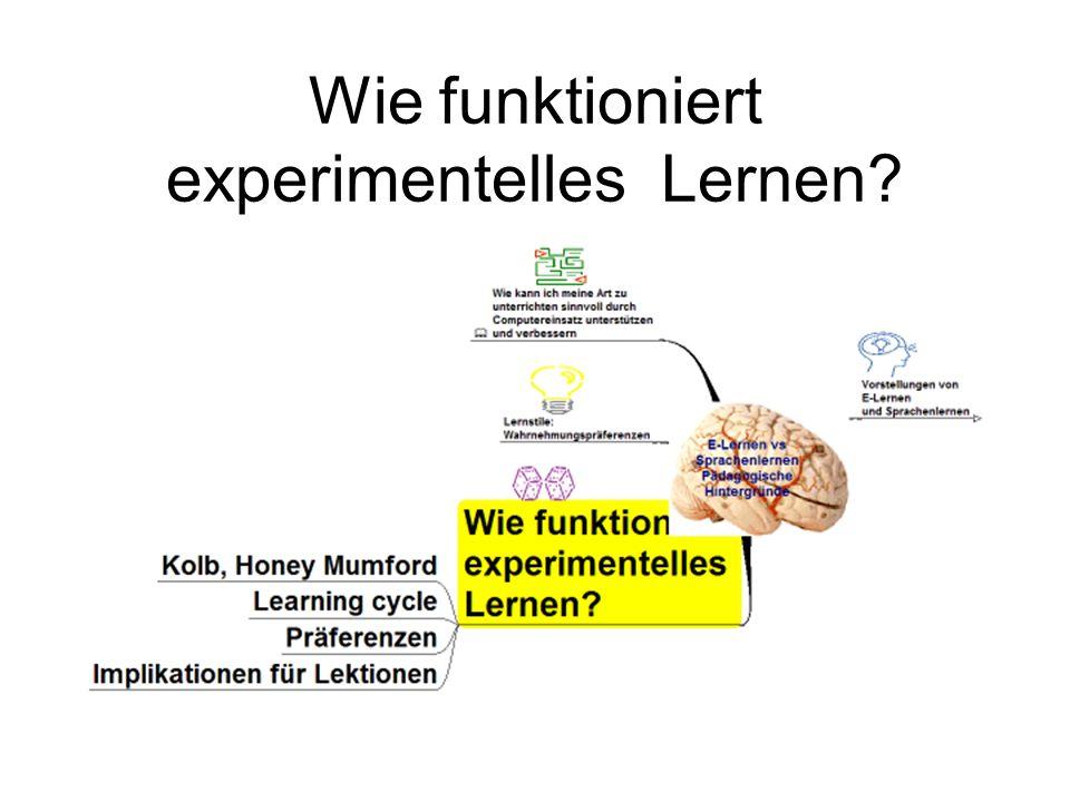 Wie funktioniert experimentelles Lernen?