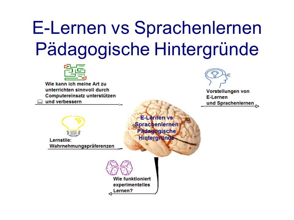 E-Lernen vs Sprachenlernen Pädagogische Hintergründe