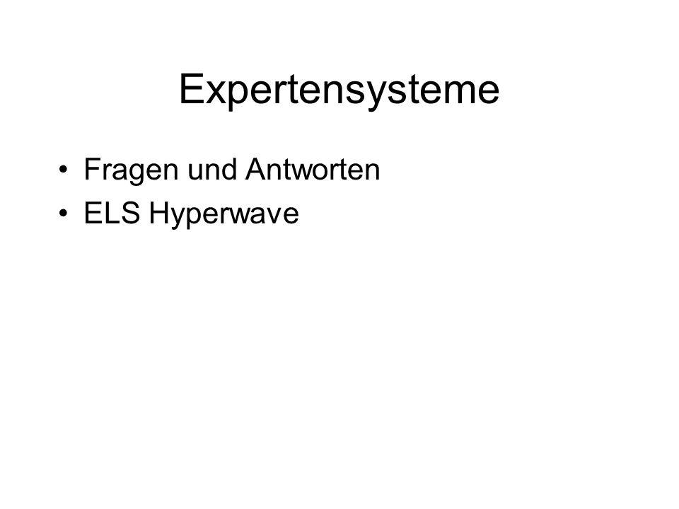 Expertensysteme Fragen und Antworten ELS Hyperwave