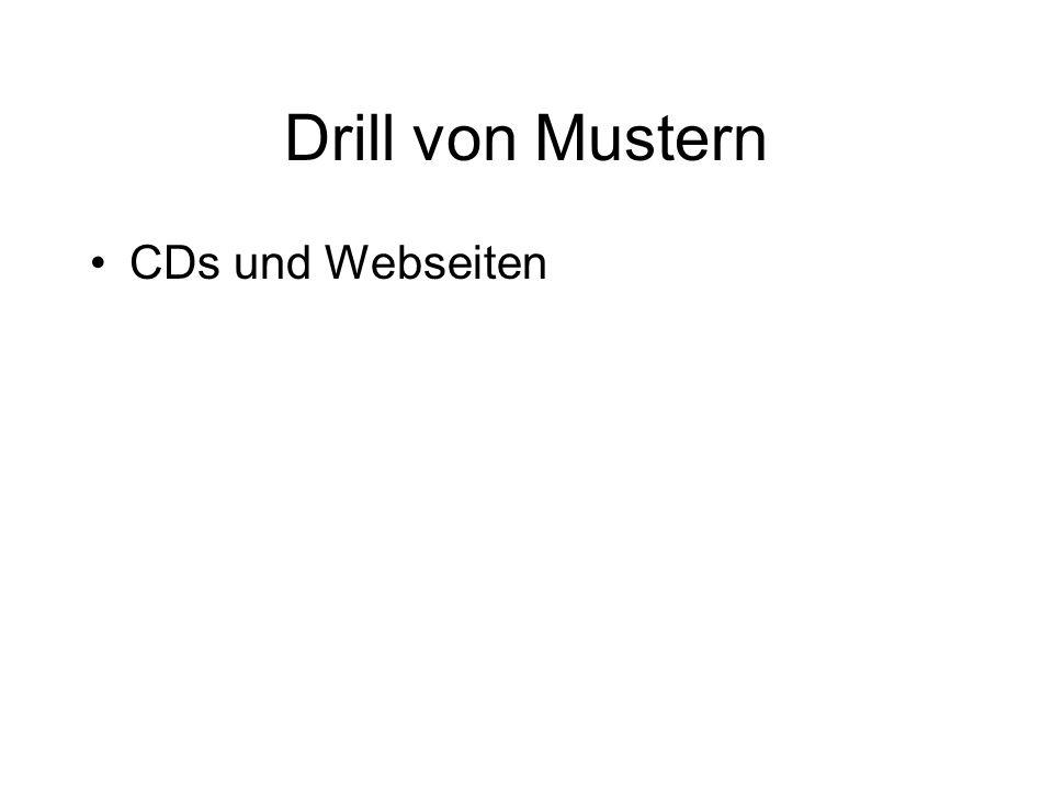 Drill von Mustern CDs und Webseiten