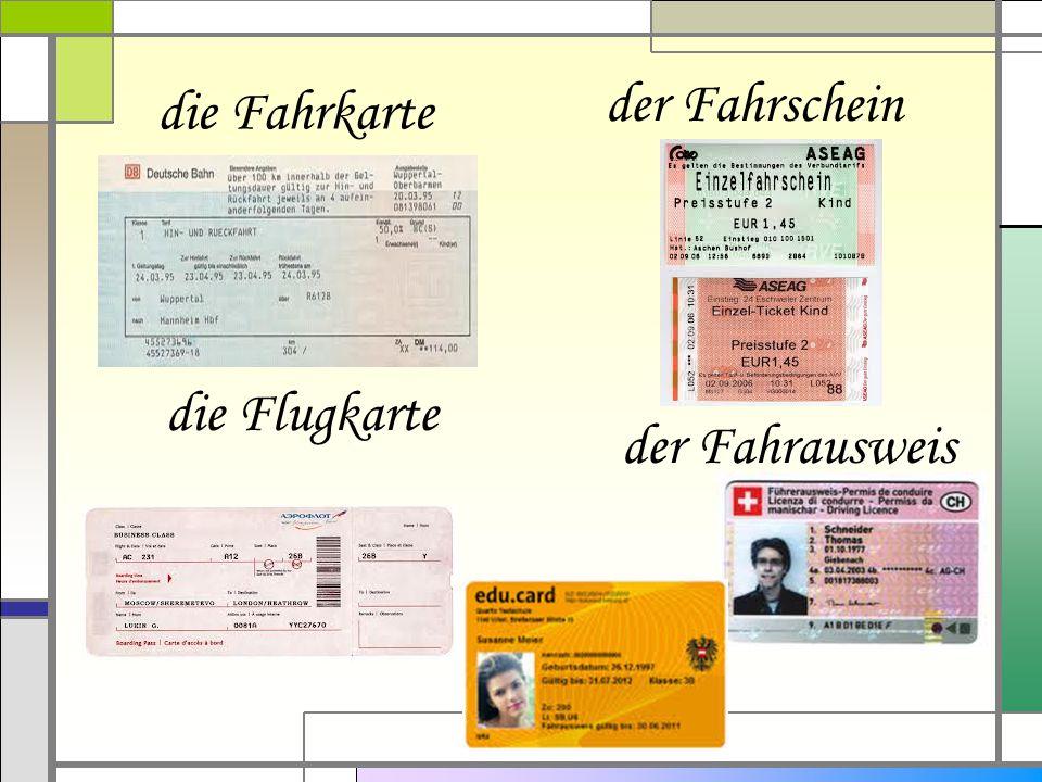 der Ausweis der Pass das Visum