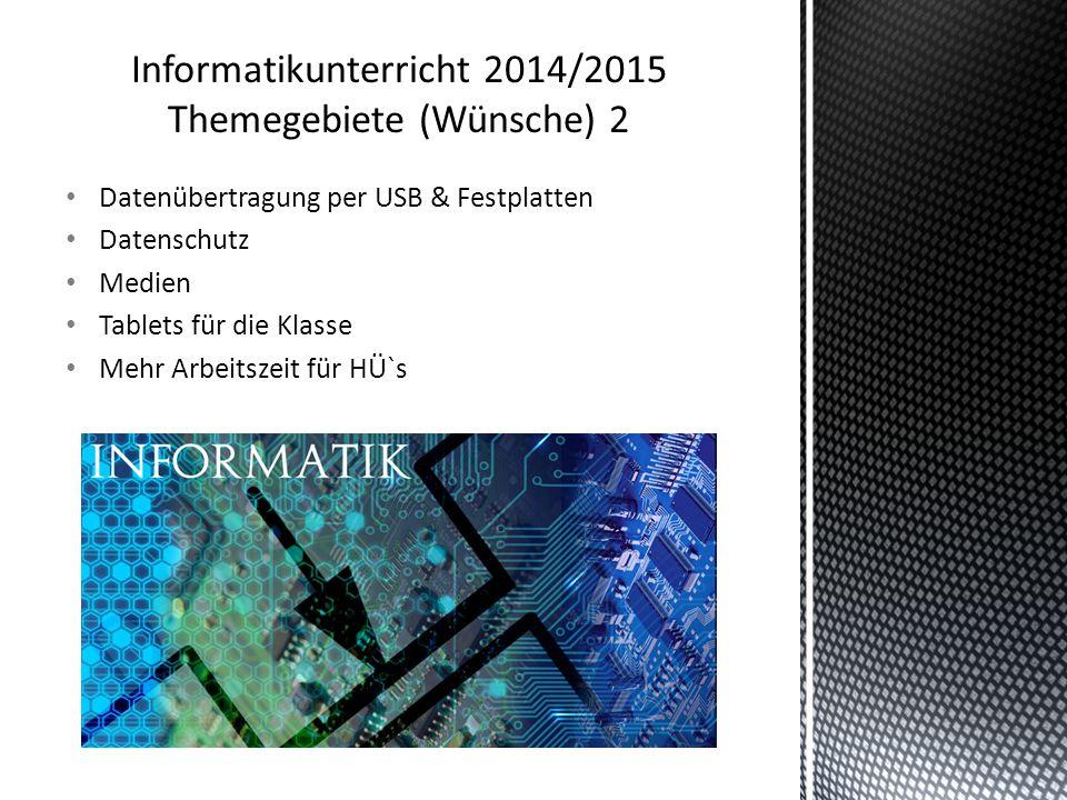 Datenübertragung per USB & Festplatten Datenschutz Medien Tablets für die Klasse Mehr Arbeitszeit für HÜ`s