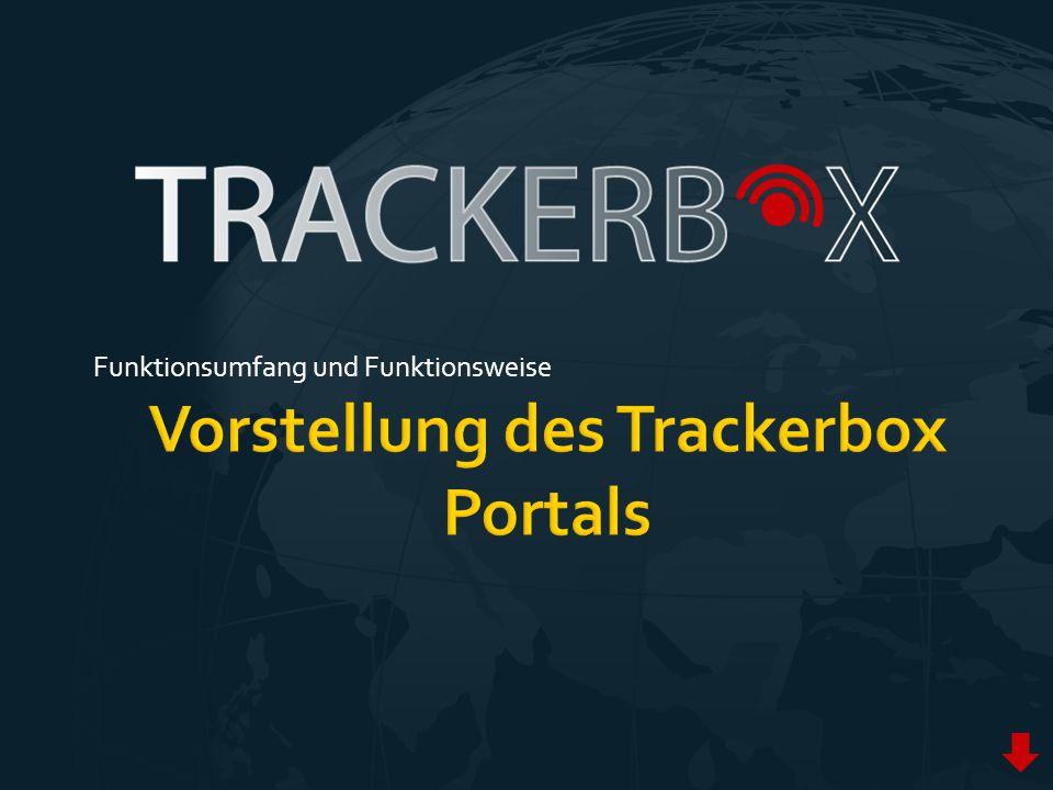  Internetbasierte Anwendung  Anzeige von Positionen, Routen, Stops  Verwaltung und Konfiguration von Trackern  Laufzeitenverlängerung von SMS- Kontingenten  Grafische Analyse und Fahrtenbücher