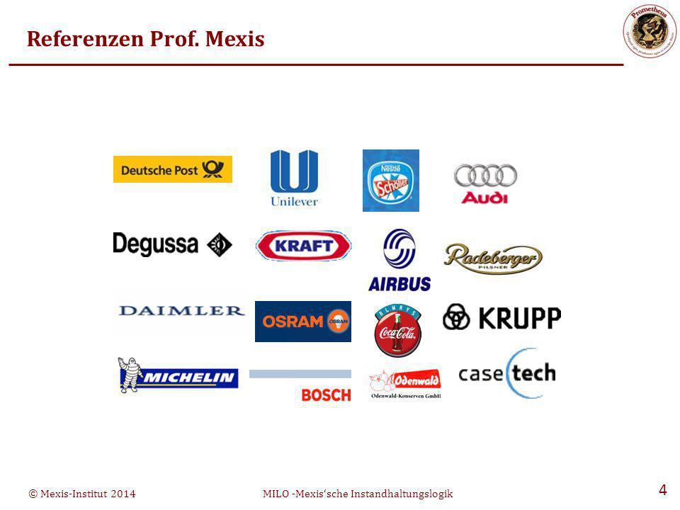 © Mexis-Institut 2014MILO -Mexis'sche Instandhaltungslogik 4 Referenzen Prof. Mexis