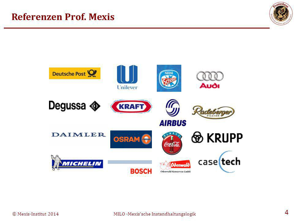 © Mexis-Institut 2014MILO -Mexis'sche Instandhaltungslogik 25 Prometheus ® - Oberfläche
