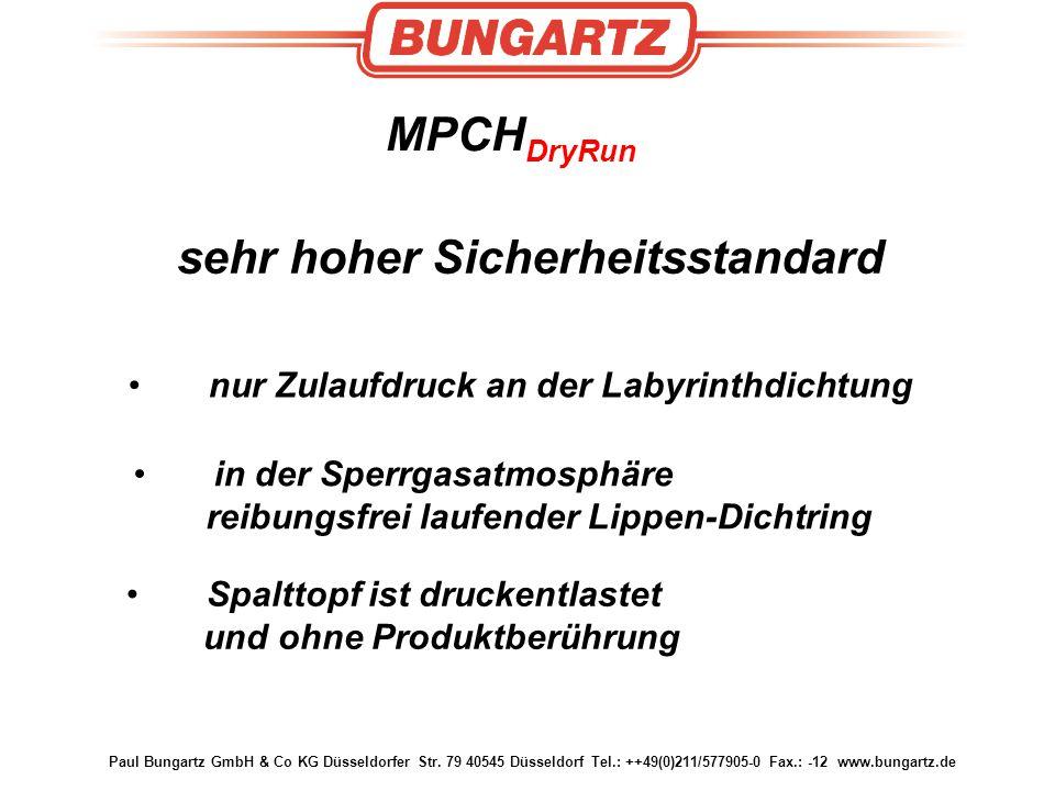 Paul Bungartz GmbH & Co KG Düsseldorfer Str. 79 40545 Düsseldorf Tel.: ++49(0)211/577905-0 Fax.: -12 www.bungartz.de sehr hoher Sicherheitsstandard MP